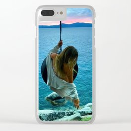 Swinging at the Lake Clear iPhone Case