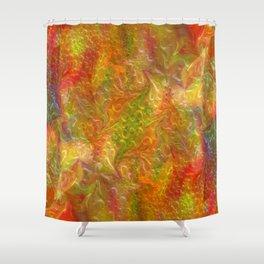 Digital floral background Shower Curtain