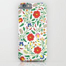 Hungarian Matyo Embroidery iPhone Case