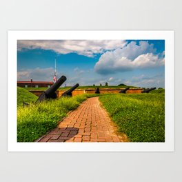 Fort McHenry Cannons Art Print