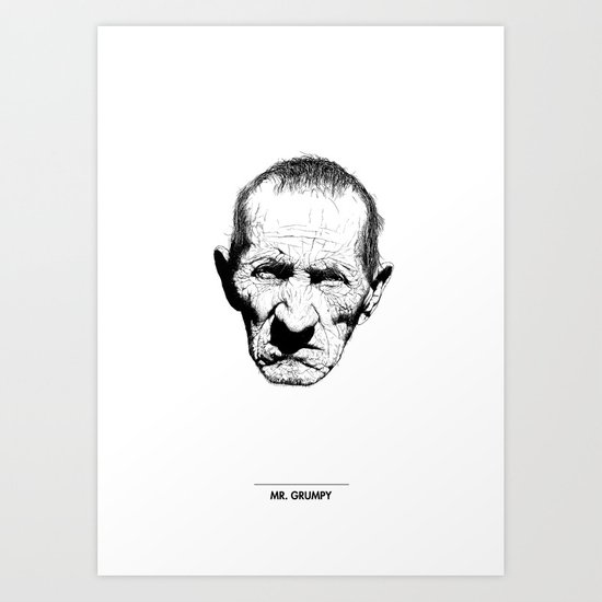 Mr. Grumpy Art Print