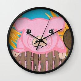Baby Pig Wall Clock