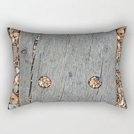 Beach Pebble Abstract Rectangular Pillow