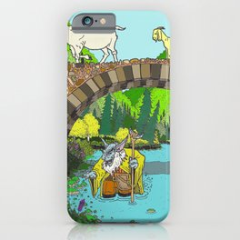 Three Billy Goats Gruff (color) iPhone Case