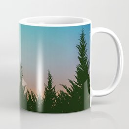 TREES - SUNSET - SUNRISE - SKY - COLOR - FOREST - PHOTOGRAPHY Coffee Mug