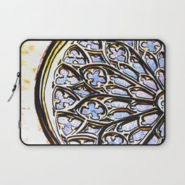 Gothic Rose Drawing Cathedral Barcelona Laptop Sleeve