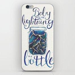 Lightning In A Bottle iPhone Skin