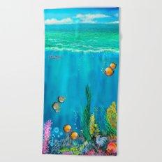 Undersea with Nautilus Beach Towel