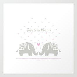 Love Elephants Art Print