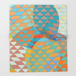 Triangle Pattern No. 11 Circles Throw Blanket