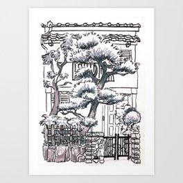 Japan : Osaka apartment Art Print