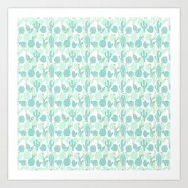 Sweet Baby Cacti Art Print