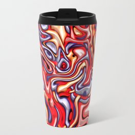 Funky melted red and blue Travel Mug