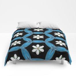 hippie flower pattern Comforters
