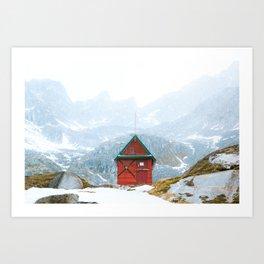 Alaskan Hut Art Print