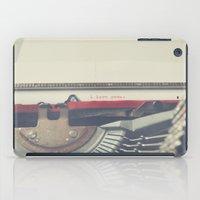 typewriter iPad Cases featuring typewriter by Sara Cuadrado
