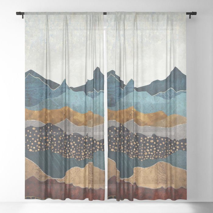Amber Dusk Sheer Curtain