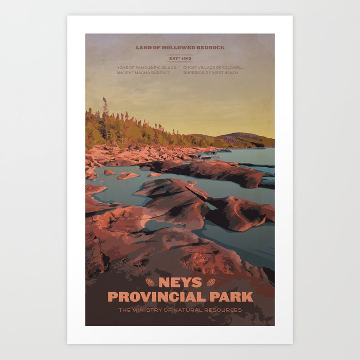 Neys Provincial Park Art Print