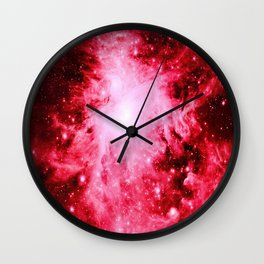 Red Orion Nebula Wall Clock