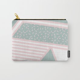 Modern Memphis Illustration - Gemetrical  Retro Art in Pink and Mint -  Mix & Match With Simplicity Carry-All Pouch