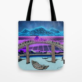 Synthwave Space: 36 views of mount Fuji #2 Tote Bag