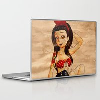 pin up Laptop & iPad Skins featuring Pin Up by Lilolilosa