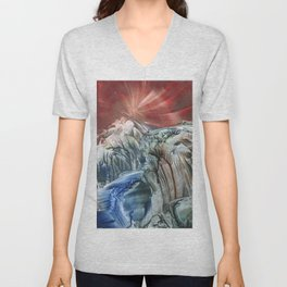 Morphing obscure horizons into shifting emotions Unisex V-Neck