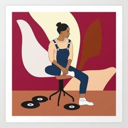 Vinyls lover Art Print
