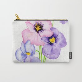 Pretty Pansies Carry-All Pouch