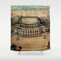 theater Shower Curtains featuring Yerevan Opera Theater by Narek Gyulumyan