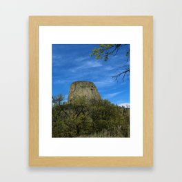 Devils Tower View Framed Art Print