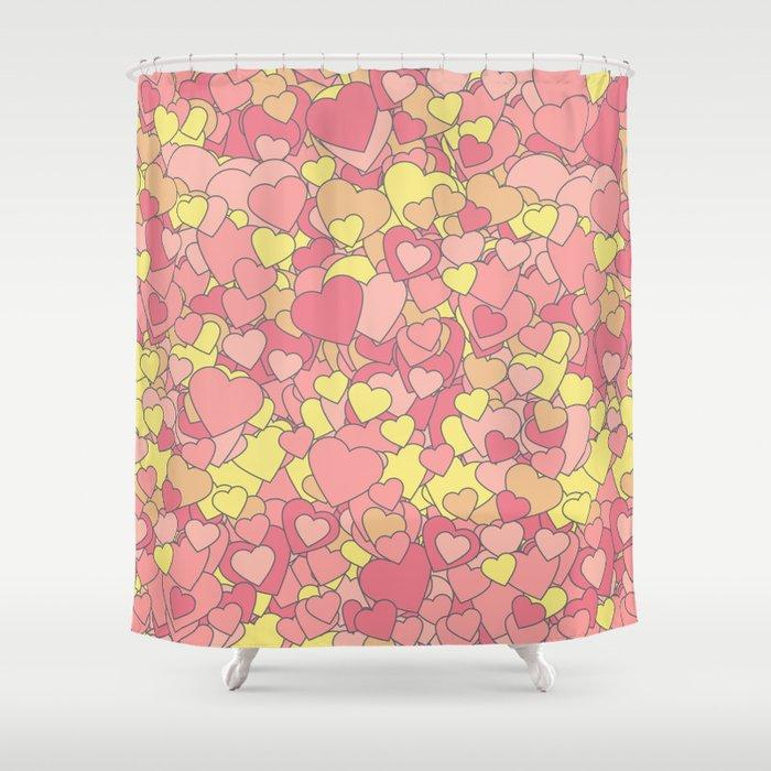 Heart Fever Shower Curtain By Prestonsurdo Society6