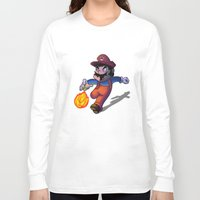 mario Long Sleeve T-shirts featuring Mario by DROIDMONKEY