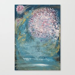 Cherry Blossom Falls Canvas Print