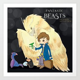 Fantastic beasts and where to find them. Art Print