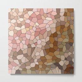 Skin Tone Mosaic Metal Print