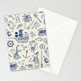Pirate Play - Cream Stationery Cards