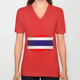 Flag Of Thailand Unisex V-Neck