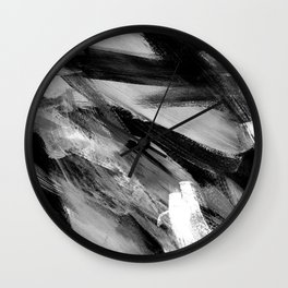Abstract Artwork Greyscale #1 Wall Clock