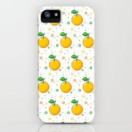 Pixel Oranges - White iPhone Case