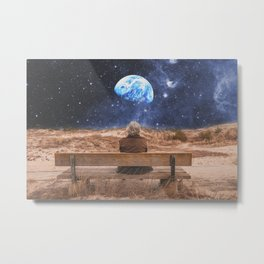 PLANET EARTH, THE UNIVERSE AND I Metal Print