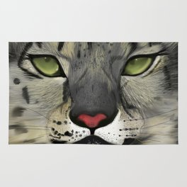 The Eyes Have It - Snow Leopard Rug
