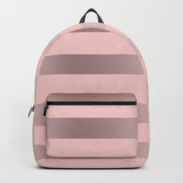 Pink & rose gold stripe Backpack
