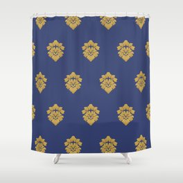 Free Marches (Blue) Shower Curtain
