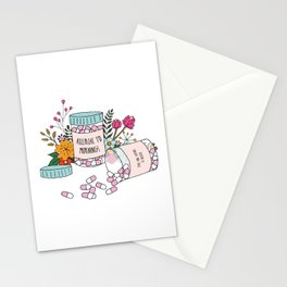 Allergic to mornings Stationery Cards