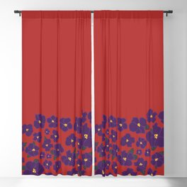 Field of African Violets Blackout Curtain