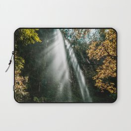 Waterfall and sunshine in rainforest Laptop Sleeve