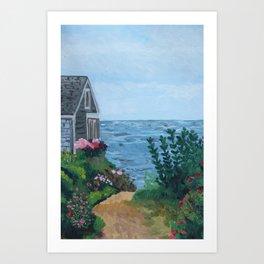Sea Side Cottage Art Print