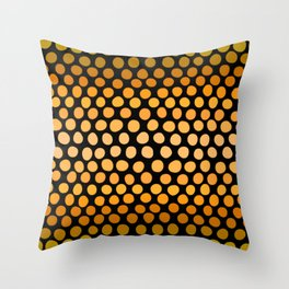 Honey Gold and Amber Ombre Dots Throw Pillow
