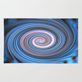Blue Pastel Swirl Rug